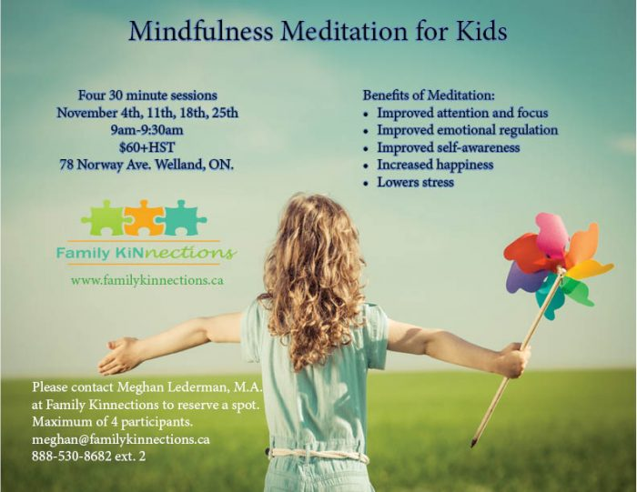 Mindfulness, Welland, Children